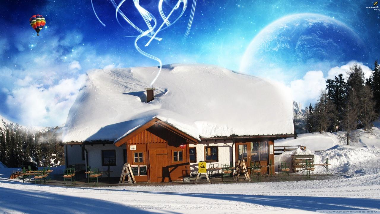 дома снег если скачать